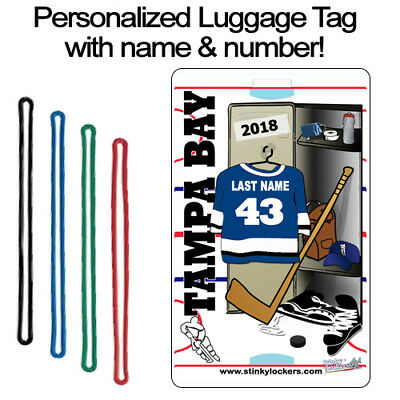 Personalized Tampa Bay Hockey Luggage Tag