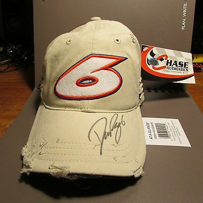 Nascar David Ragan Autographed #6 Hat new Signed Roush Fenway Chase Authentics M