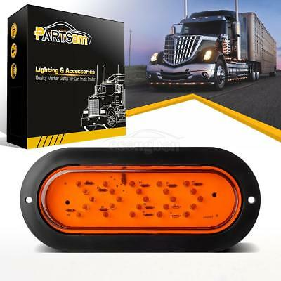"""Stop Tail Arrow Turn Signal Light Truck Trailer Amber 6"""" Oval Yellow 25 LED Lamp"""