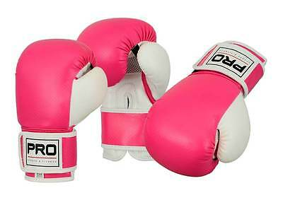 Girls Kids Pink Boxing Sparring Training Gloves MMA Muay Thai Punching Gloves