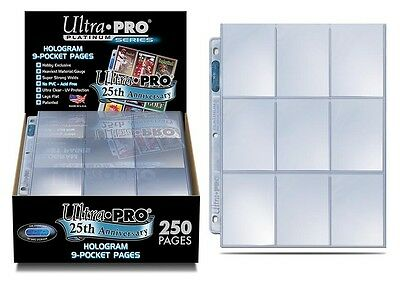 ULTRA PRO PLATINUM 9 POCKET FOLDER SLEEVES x10 PAGES! POKEMON! MTG! QUALITY!!