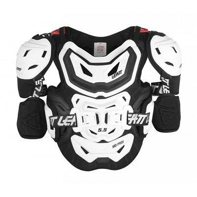 Leatt NEW Mx 5.5 Pro HD White Motocross Adult Chest Protector Roost Body Armour