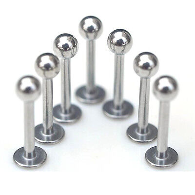 50/30Pcs Lot Stainless Steel Tongue Labret Lip Bar Ring Body Piercing Jewellery