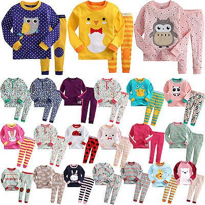 """G.50 Style"" Vaenait Baby Kids Toddler Girls Long Clothes Pajama Set 12M-7T"