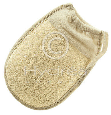 LOOFAH FACE & BODY GLOVE - Reduce Cellulite, Massage, Exfoliate & Detox - Hydrea