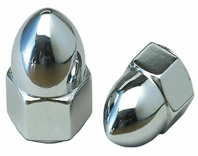 "Chrome 5/16"" -24 UNF Acorn Nuts (Pair) fit Harley-Davidson Mirrors"