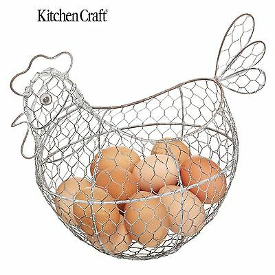 Kitchen Craft Beautifully Distressed Wire Egg Basket KCCHICK
