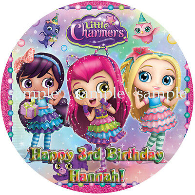 LITTLE CHARMERS Round Edible Birthday CAKE Image Icing Topper Party Decoration