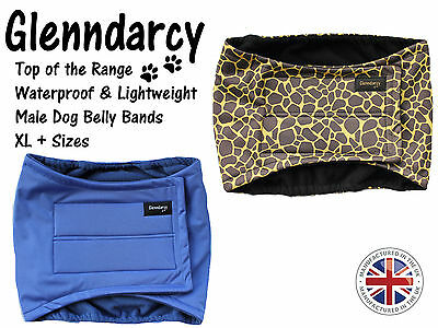GLENNDARCY WATERPROOF BELLY BAND NAPPY FOR MALE DOGS / MARKING- SIZES XL to XXL