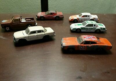 Vintage 6 Ertl 1:64 Diecast General Lee, Mercedes Benz 450 Se Included