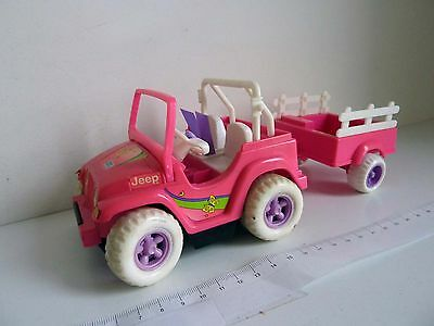 MATTEL FISHER PRICE 1997 - POWER WHEELS JEEP SHELLY BARBIE - Fonctionne Works