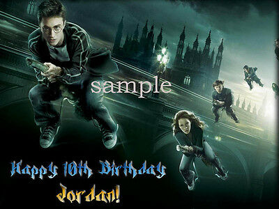 HARRY POTTER Edible Birthday CAKE Image Icing Topper FREE SHIPPING