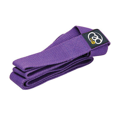 Fitness Mad Yoga Deluxe Belt & Mat Carry Strap Easy & Adjustable - Purple