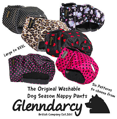 Female Dog In Season /heat Hygiene Pants / Nappy -Sizes Large To Xxxl - Washable