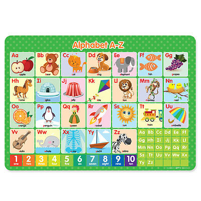 Learn your alphabet A-Z Children's Educational Poster Placemat