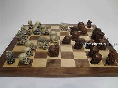 Gothic Skulls Chess Set  (Pieces only - no board)