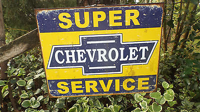 Vintage Signs Chevrolet Chevy GM Garage Collectible Advertising Tin Metal Sign