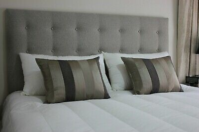 Luxury Designer Headboard In Chenille Fabric Top Quality All Sizes & Colours 32""