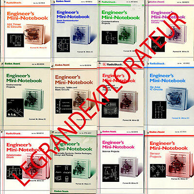 Ultimate RadioShack Engineer's Mini Notebooks Forrest Mims  31 PDFs manual s DVD