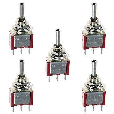 5 x On/Off/On Mini Miniature Toggle Switch Car Dash SPDT
