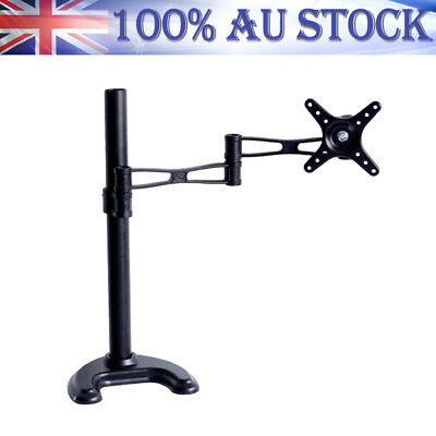 "Desk Hole Mount 10""-27"" Computer LED LCD Monitor Bracket HD TV Stand Single Arm"