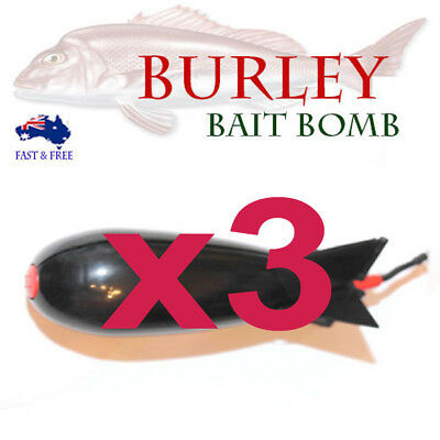 Burley Bomb deploy Bait Fishing Lures Pellets Rods Reels Tackle Bream Snapper