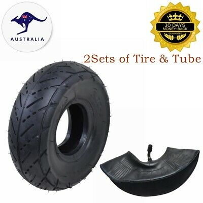 2x Mini Pocket ATV TYRE + TUBE 3.00-4 Tire 9x3.5-4 Quad Wheel Front Rear 47 49cc