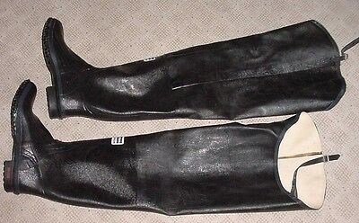 New Uniroyal Super Safety Heavy Black Rubber Fireman Hip Boots Waders Gummi Gay