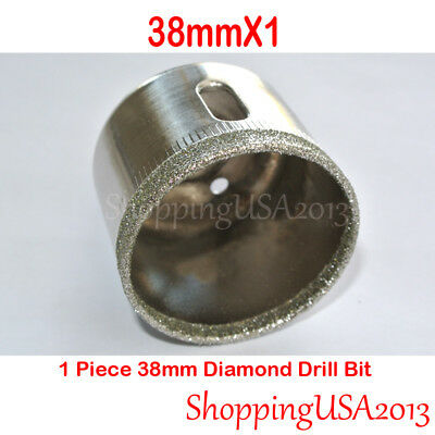 "1 pc 38mm 1.5 "" Diamond Coated tool drill bit hole saw glass ceramic marble@"