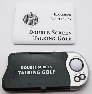 Double Screen Talking Golf Electronic Hand Held Game Excalibur Tested Working