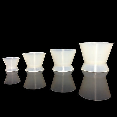 4Pcs/set  New Dental Lab Silicone Mixing Bowl Cups Temporary crown Cup UK