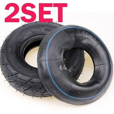 2xMini Moto TYRE 3.00-4 Tire 9x3.5-4 Inne Tube 300-4 350-4 Mini ATV Quad Bike AU