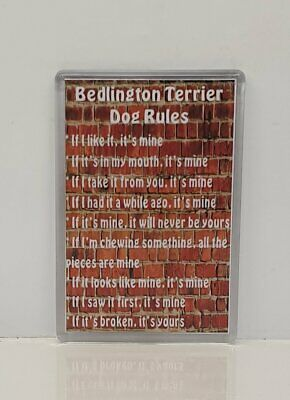 BEDLINGTON TERRIER RULES - IT'S MINE! Dog Fridge Magnet - Ideal Present/Gift