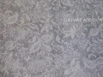 White Wedding Aisle Runner 75' French Lace Design