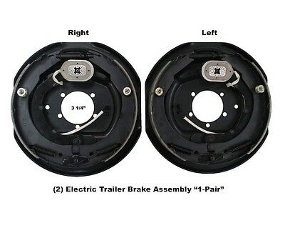"""12"""" x 2"""" Left & Right Side Electric Trailer Brake Aseembly 6000 7000 Axle Brakes"""