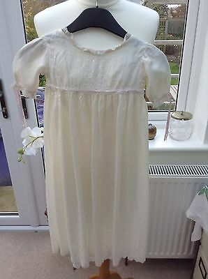 Vintage/Antique Baby Girls Cream Pure Silk Christening Gown