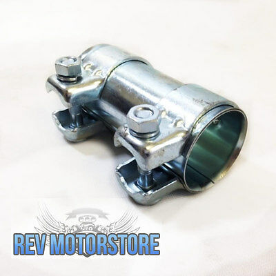 """2.5"""" EXHAUST CONNECTOR COUPLER FRONT ADAPTER PIPE TUBE JOINER 63.5mm 2"""" 1/2"""