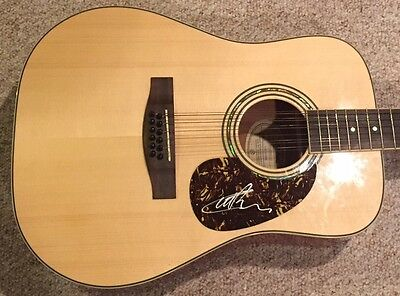 Carl Palmer ASIA Emerson Lake & Palmer Signed Autographed Acoustic Guitar