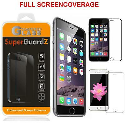 SuperGuardZ Tempered Glass Full Coverage Screen Protector Shield for iPhone 6 6S