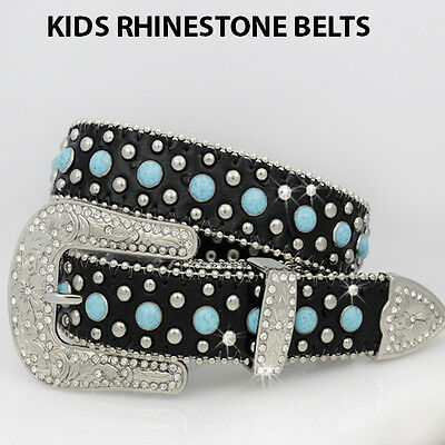 3101-LARGE Girls Western Rhinestone Childrens Western Kids Bling Bling Belts