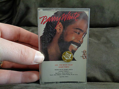BARRY WHITE AND THE RIGHT NIGHT_used RARE cassette_ships from AUS!_S4