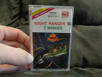 NIGHT RANGER_7 Wishes_used RARE cassette_ships from AUS!_TU5