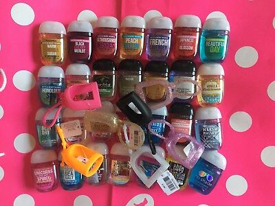 (20) Bath & Body Works PocketBac Sanitizer Random Mix 10 Hand Gel & 10 Holder