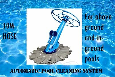 Automatic Swimming Pool Cleaner for Above & In Ground Pools 10M Hose Anti-stick