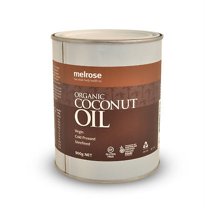 Melrose Organic Unrefined Coconut Oil 900g Cooking Oil | Cold Pressed