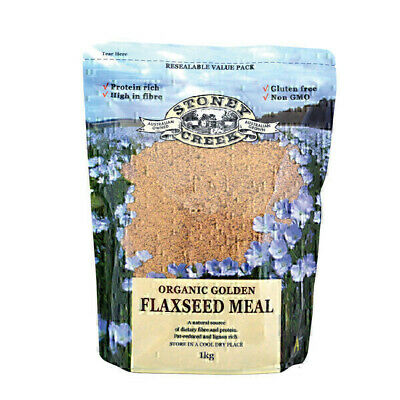 Stoney Creek Organic Golden Flaxseed Meal 1kg | Flax seed Product of Australia