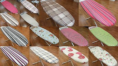 Luxury Ironing Board Cover New Easy Fit Thick Foam Back Cotton Large Extra X Reg