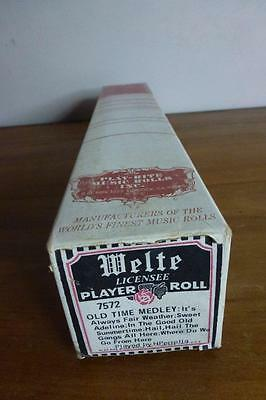 WELTE-MIGNON REPRODUCING PIANO ROLL. Old Time Medley. Five Songs.