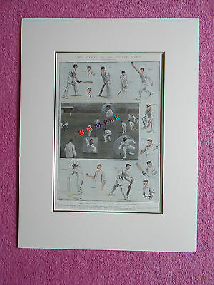 Cricket Print Dated 1902 - The Opening Of The Cricket Season