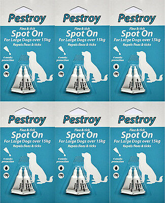 6 Months Pestrroy Flea & Tic treatment for Large Dogs for the Price of 5 Months!